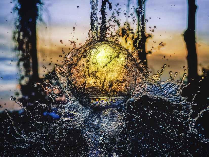 abstract aqua art blur