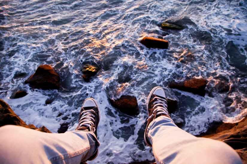 adventure cliff ocean outdoors